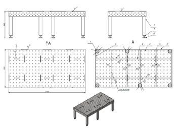 Чертежи сварочного стола размер 2400х1200
